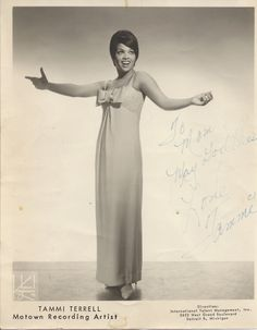 Tammi Terrell, Motown recording artist.
