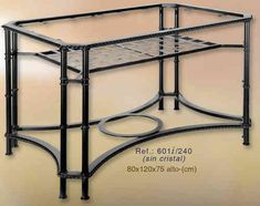 Mesa de forja rectangular de 120x80cm.   www.rustiluz.com #mesa, #forja, #hierro, #forjado, #decoracion, #rustica, #comedor