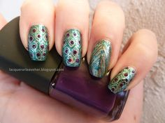 Lacquer or Leave Her!: NOTD: MSMD Monday Peacock Nails