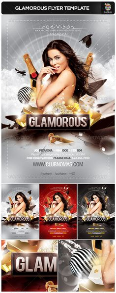 Glamorous Flyer Template - GraphicRiver Item for Sale