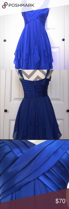 Beautiful Royal Blue Dress I purchased this dress from another posher for my daughter but it didn't fit her .  Great condition and absolutely lovely.  Looking for a good home 💙🙂 BCBGMaxAzria Dresses Midi