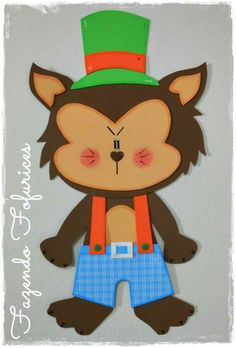 Lobo mau Foam Crafts, Preschool Crafts, Diy And Crafts, Crafts For Kids, Arts And Crafts, Halloween 6, Halloween Projects, Red Ridding Hood, Egg Carton Crafts