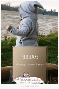 simple fleece jacket for the transition with a long hood - Parenting Kids Fashion Boy, Toddler Fashion, Capes, Fashion Dress Up Games, Kids Clothing Brands, Boys Sweaters, Cute Baby Clothes, Sewing For Kids, Kids And Parenting