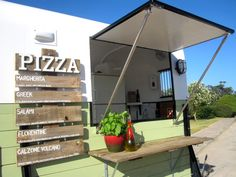 Food Trucks - Horse trailer converted into mobile Pizza trailer.