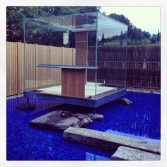 "Hiroshi Sugimoto's ""Glass Tea House Mondrian"" at Le Stanze del Vetro. #biennalearchitettura2014 #travel #teamfitz  (at Iso..."