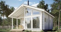 This Comfortable Tiny House Design (with Plans) Little House Plans, A Frame House Plans, Tiny House Plans, Minimal House Design, Tiny House Design, Prefab Homes, Cabin Homes, Steel Frame House, Vintage House Plans