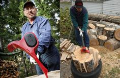 Innovative Axe Chops Through Wood Like It's Butter : Discovery News Camping Survival, Emergency Preparedness, Survival Skills, Cool Tools, Diy Tools, Splitting Wood, Log Splitter, Firewood Storage, Simple Machines