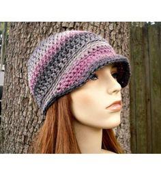 Instant Download Crochet Pattern - Hat Crochet Pattern - Crochet Hat Pattern for The Biloxi Skullcap Beanie Visor Fall Fashion