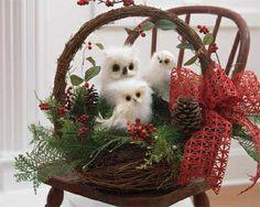 Owl Christmas Basket