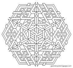 Triplex redo. From geometrycoloringpages.com