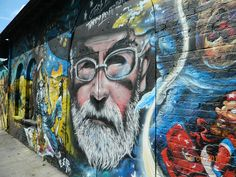 Street Art around Brick Lane in East London. This part of London has always been very diverse and multicultural. Lots of fun street art and some by very famous people. This art is continually changing of course. Street Art London, Brick Lane, East London, Famous People, Fun, Painting, Brick Road, Painting Art, Paintings