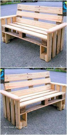 Pallet Furniture Designs, Pallet Garden Furniture, Wooden Pallet Projects, Diy Outdoor Furniture, Pallet Crafts, Wooden Pallets, Pallet Ideas, Pallet Benches, 1001 Pallets