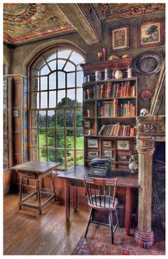 Fonthill Castle  library