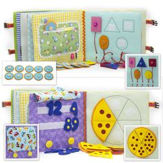Quiet Book busy book educational toy eco friendly children