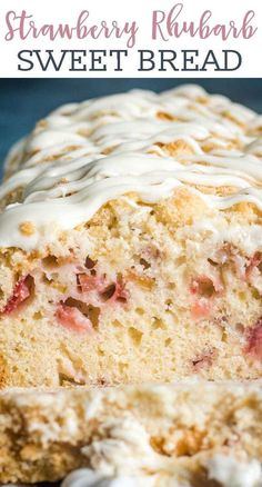The classic summer flavor combination! Use fresh strawberries and garden rhubarb together in this easy Strawberry Rhubarb Bread. A quick bread for breakfast or dessert!