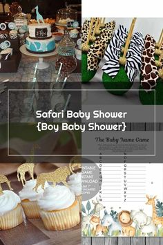 Baby Shower Themes, Baby Boy Shower, Baby Showers, Baby Name Game, Baby Names, Zebra Print Cupcakes, Cupcake Wrappers, Personalized Tags, Straws