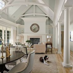 Coastal Style: Reminder - these chairs would match Roman Shades in Castle