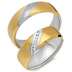 Eheringe 333er Gelb- Weissgold 18 Diamanten EHE0294-3s https://www.thejewellershop.com/ #weißgold #gelbgold #gold #eheringe #diamanten #diamond #ringe #trauringe #diamonds #jewelry #schmuck