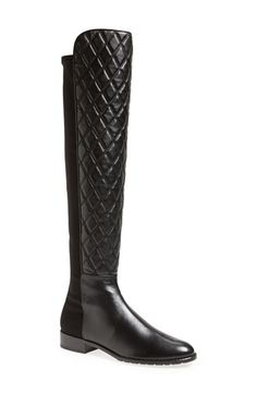 Stuart Weitzman 'Quiltboot' Nappa Leather Over the Knee Boot (Women) available at #Nordstrom