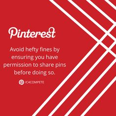 Pinterest Tip: It's poor etiquette to share copyrighted content but it's also illegal.   Many believe that becomes something is on social media, it's automatically copyright free but that's not the case.   It's always better to be safe than sorry. The great thing about reaching out to the content owner is that it gives you a chance to thank them. You never know what great connections and collaboration opportunities may come from that.