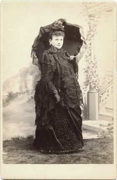 A fine example of a very pregnant woman in victorian clothes. Mids- late 1880s.