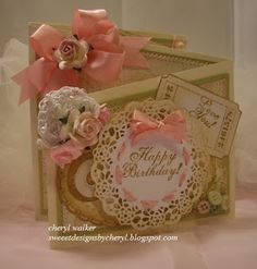 Sweeet Designs By Cheryl: Z-Fold Video/ & Video on Ribbon Rosette Flowers