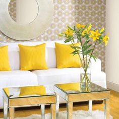 Yellow is the color of sunshine. It's associated with joy, happiness, intellect, and energy.  Yellow produces a warming effect, arouses cheerfulness, stimulates mental activity, and generates muscle energy.