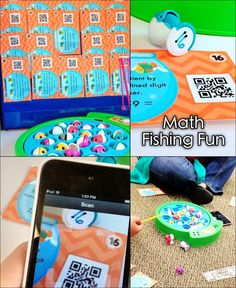 Math Fishing Fun! Use the classic fish game and task cards (we use self-checking QR code task cards) to make a super fun work station.
