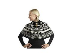 Kirjoneuleinen poncho - novita isoveli Handicraft, Knit Crochet, Beanie, Knitting, Hats, Cowls, Scarfs, Diy, Fashion