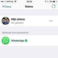 Heb jij 'Status' in WhatsApp al ontdekt? Weer een aanval van Facebook op Snapchat. #whatsapp #status #snapchat #facebook