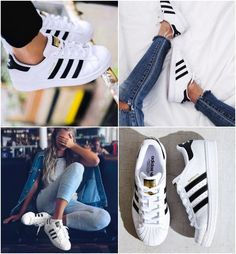 Adidas Superstar – 30 Looks to Copy Now – Shoes Looks Adidas, Adidas Mode, Winter Outfits, Summer Outfits, Tennis Shoes Outfit, Adidas Fashion, Swagg, Adidas Shoes, Fashion Shoes
