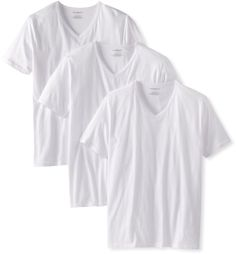 New Emporio Armani Men's 3-Pack Regular Fit V-Neck T-Shirt / 2 DAY SHIPPING #EmporioArmani #BasicTee