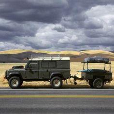 bexargoods: #Defender 110 and adventure trailer– Overland Glamping (Glamorous + Camping). #adventuremobile