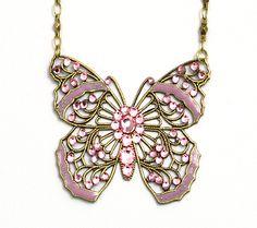 Butterfly Necklace by Anne Koplik Jewelry