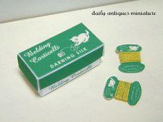 Dollhouse miniature in 1/12 scale  Green cat by dailyantiquesmini, $18.00