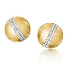Verdura   Products   EARCLIPS   Diamond Dome Earclips - http://www.verdura.com/store/earclips/products/diamond-dome-earclips