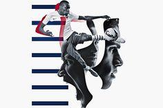 Image for Nike's Brotherhood Instagram campaign for the Fédération Française de Football.
