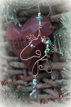Wire Horse Ornaments by RhythmnBeads on Etsy