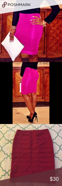 Fuschia bandage skirt Worn once for PR event. Has a light stretch. Skirts