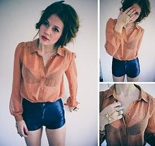 Blouse and shorts