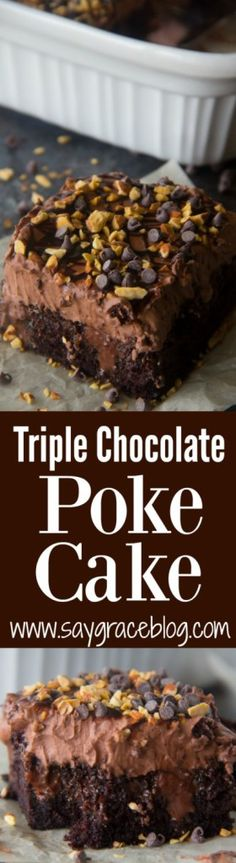 Moist dark chocolate cake filled with sweetened chocolate ganache gets topped with homemade chocolate whipped cream and chopped roasted almonds to make a big impression on your Valentine's Day sweetie this year!!