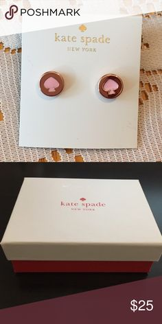 Kate Spade Earrings New Kate Spade Earrings   Color: Rose gold/rose gold plated   New with tags. Includes dust bag and gift box  PRICE IS FIRM   No trades. kate spade Jewelry Earrings