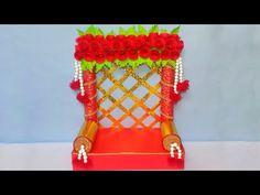 Ganpati Decoration Ideas for Home Ganpati Decoration Design, Mandir Decoration, Ganapati Decoration, Vase Crafts, Craft Stick Crafts, Art Classroom Rules, Pista Shell Crafts, Ganesh Chaturthi Decoration, Coconut Shell Crafts