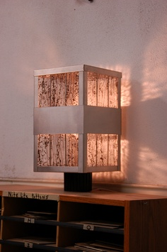 Stainless steel and art glass post lantern