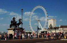 Also unser Wetter diese Woche ...  im Saarland, unterscheidet sich vom sonntäglichen Londonwetter kaum. London schon. Das Saarland hat kein Big Eye und es rennen nicht so viel Leute überall rum. Zum Glück !! :-) http://de.wikipedia.org/wiki/London_Eye