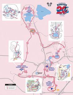 2013 Disney Full Marathon - Course Map