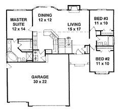 Traditional English Cottage House Plans floor plans aflfpw23164 - 1 story english cottage home with 3