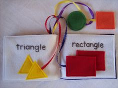 Felt Quiet Book for Learning Shapes