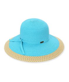 Take a look at this Turquoise Tie Sunhat on zulily today!