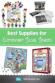 46 Awesome Supplies for Elementary Social Studies. Want to make social studies lessons more engaging? We've put together the essential list of the best social studies supplies for the elementary school! Teacher Supplies, Classroom Supplies, Classroom Decor, Hands On Activities, Writing Activities, Classroom Activities, Social Studies Projects, We Are Teachers, Geography Lessons